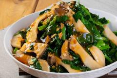 皇子菇扒豆苗2-min